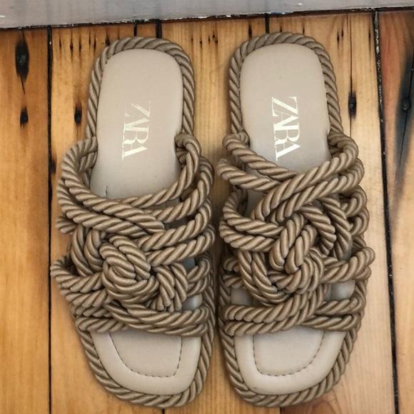 Beige Zara sandals